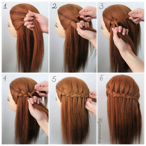 different braid step by step three strand waterfall braids check out the steps below