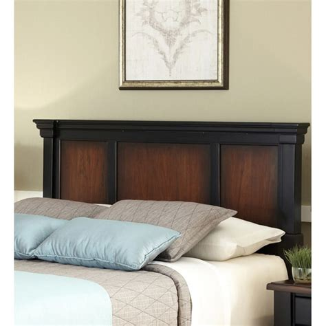 King Headboard by Home Styles The Aspen Collection Rustic Cherry Black King California King Headboard 14605505