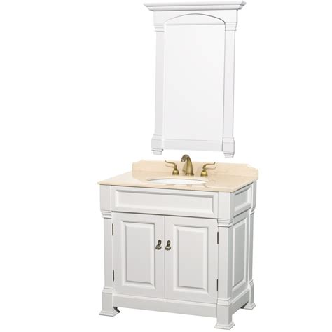 Andover 36 Inch Traditional Bathroom Vanity Set White 36 Inch Bathroom Vanity