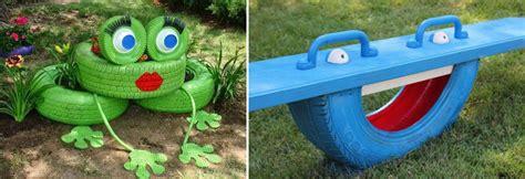 imagenes de jardines con neumaticos decoraci 243 n con neum 225 ticos reciclados
