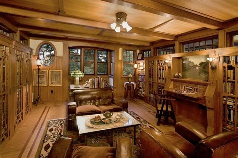 arts and crafts interior design arts and crafts trim arts crafts style library farm