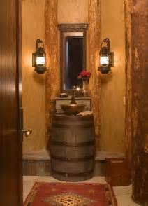 Antique Tin Bathtub Appealing Cool Powder Room Vanities Using Wine Barrel