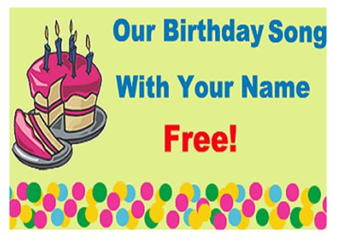 download free birthday song with your name from
