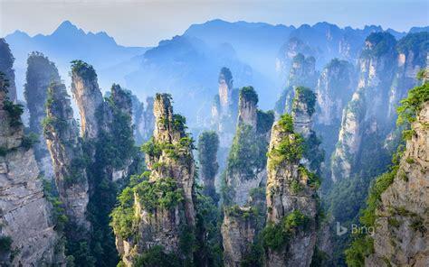 chine hunan zhangjiajie parc national de la foret
