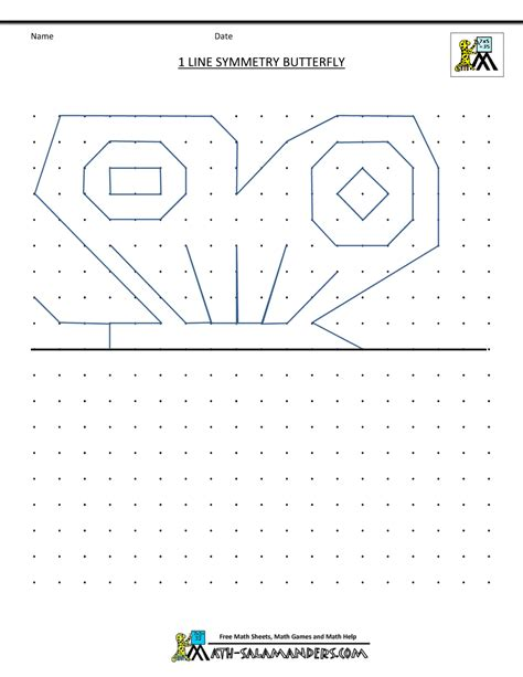 Lines Of Symmetry Worksheet by Symmetry Activities