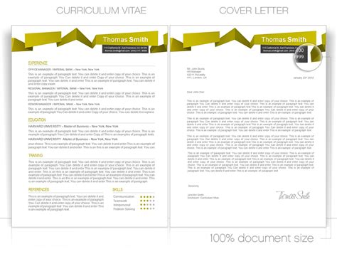 Cv Template Pages Cv Template Cv Template Package Includes Professional Layout For 2 Pages In Doc File