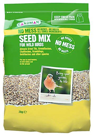 gardman no mess seed mix bird food 2kg at barnitts online
