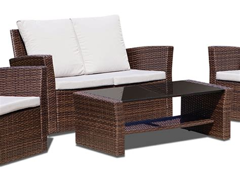 Rattan Patio Chairs New Rattan Wicker Weave Garden Furniture Patio Conservatory Sofa Set Ebay