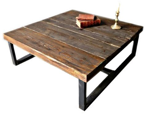 industrial chic coffee table industrial chic style reclaimed custom coffee table steel and