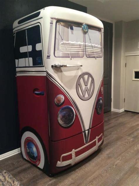 vintage vw bus red refrigerator wrap rm wraps
