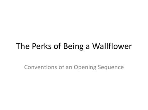 the perks of being a wallflower series 1 the perks of being a wallflower