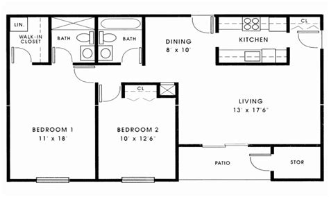 house plan 2 bedroom house plans ranch archives ideas two