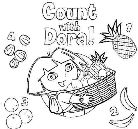 dora thanksgiving coloring page dora the explorer 2 coloring pages coloring home