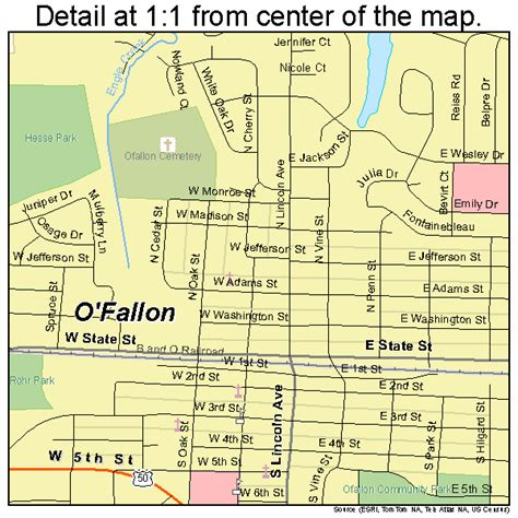 map o o fallon illinois map 1755249