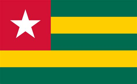 file flag of togo svg wikimedia commons