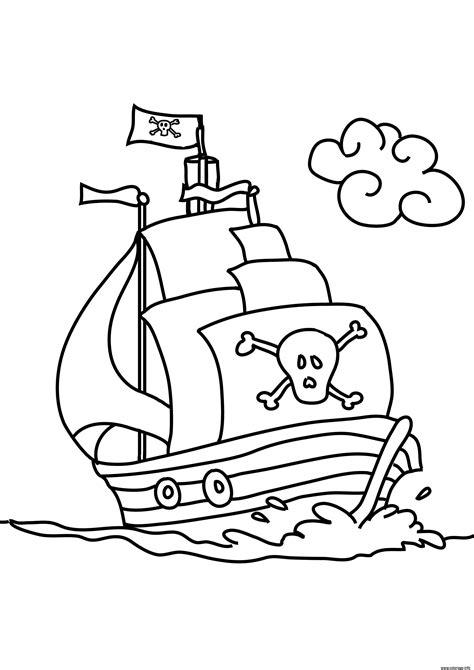 dessin facile bateau pirate coloriage bateau de pirates facile maternelle jecolorie