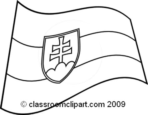flags of the world black and white world flags clipart slovakia5 flag bw classroom clipart