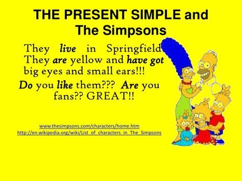 simple simpson wikipedia the present simple and the simpsons