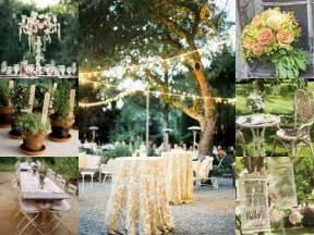 vintage garden wedding decorations images