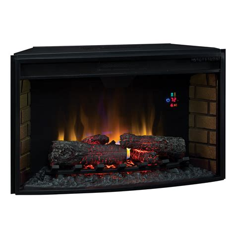 Electric Fireplace Logs Classicflame 32 In Spectrafire Curved Electric Fireplace Insert 32ef023gra