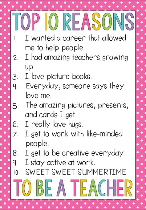 Reasons I Being A by Top 10 Reasons I Became A Teaching With O