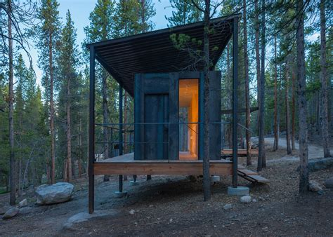 cabin architecture these student designed cabins for outward bound are rustic