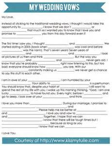 mad libs style wedding vows my tulle