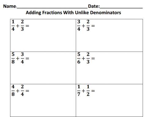 adding fractions with same denominator worksheet adding fractions with unlike denominators worksheets 5th grade adding kelpies