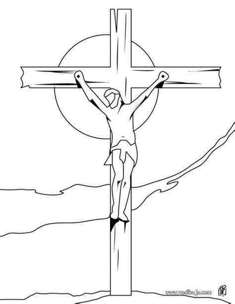 imagenes viernes santo para colorear dibujos de cristo crucificado para descargar y pintar