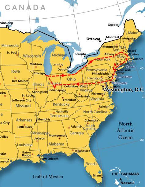 map east coast east coast trip icons