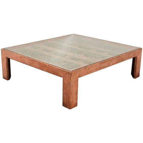 Handcrafted Coffee Tables - moroccan handcrafted large square coffee table for sale at