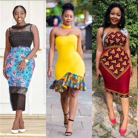 ladies   gorgeous  kitenge short dresses