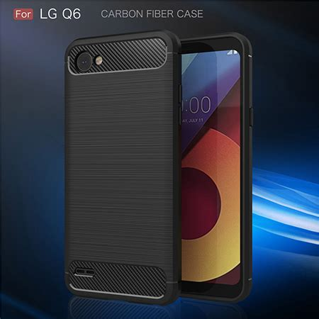 Hardcase Ume Lg Q6 Back soft cover carbon fiber phone for lg q6