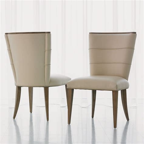 Leather Dining Chairs Adelaide Global Views Adelaide Beige Leather Dining Side Chair Gv720094