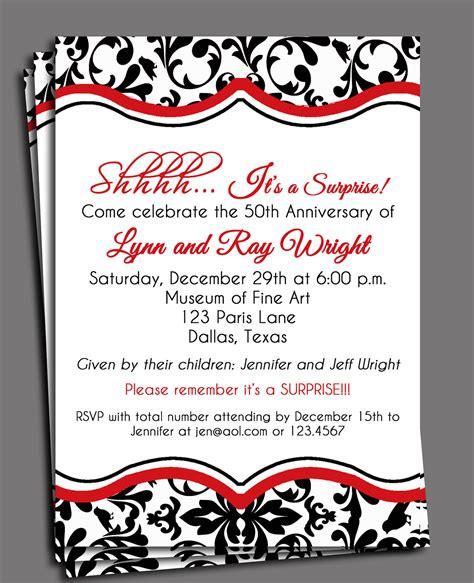 printable wedding invitations damask black damask invitation printable or printed with free