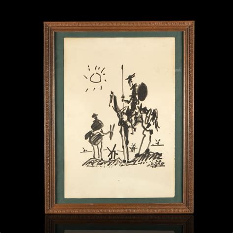 picasso paintings don quixote after pablo picasso don quixote and sancho expertissim