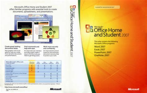 microsoft office home and student 2007 pc applications