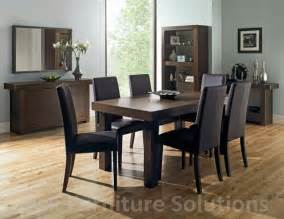 akita walnut 6 8 seater extending dining table 6 brown