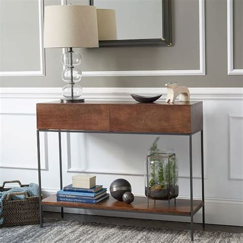 west elm console table image gallery storage console