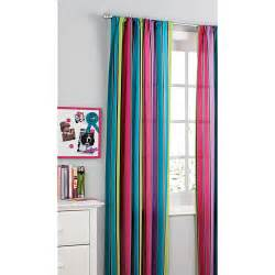 your zone printed microfiber window curtains pop stripe