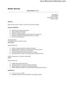 Welder Resume Sle Doc Resume As A Welder Sales Welder Lewesmr