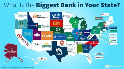 largest bank in map what is the bank in your state gobankingrates