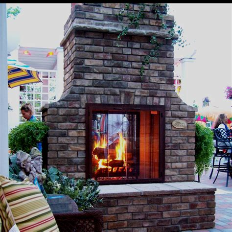 glass outdoor fireplace outdoor custom brick fireplaces by select family leisure