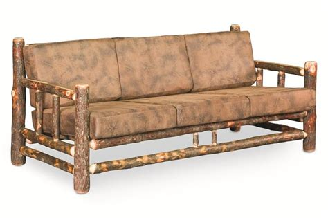 Rustic Sofas by Amish Rustic Hickory Lodge Sofa
