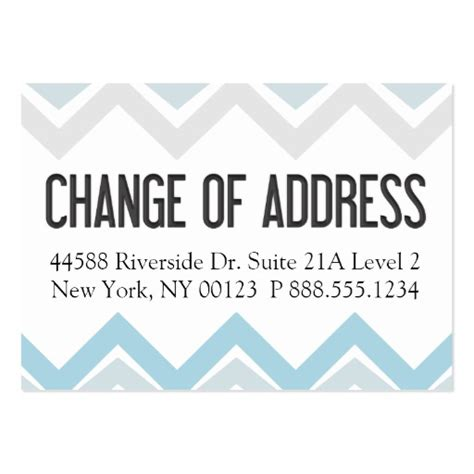 change address cards template quot change of address quot notification label business card