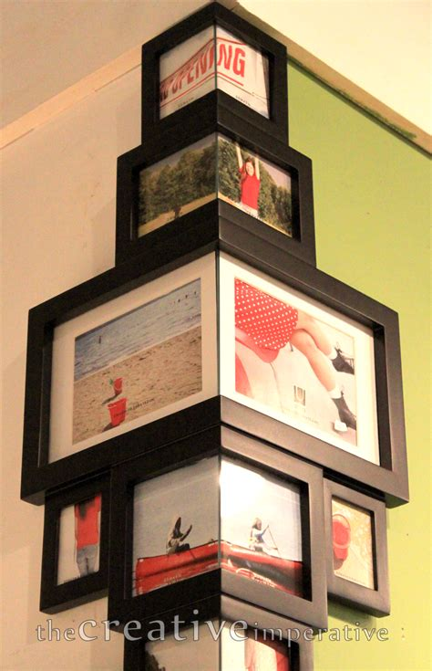 photo framing ideas very cool frames that fit around the corner of a wall