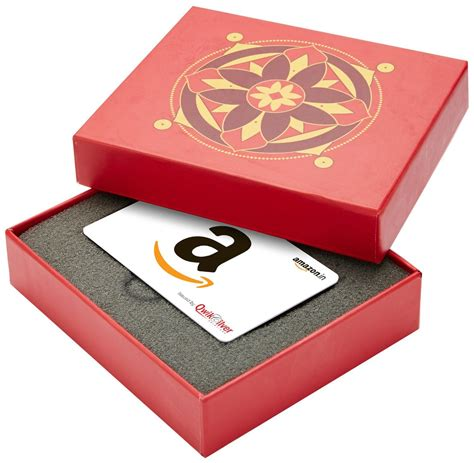 Amazon Gift Card Box - amazon in red gift card box rs 2000 white card at just rs 1900