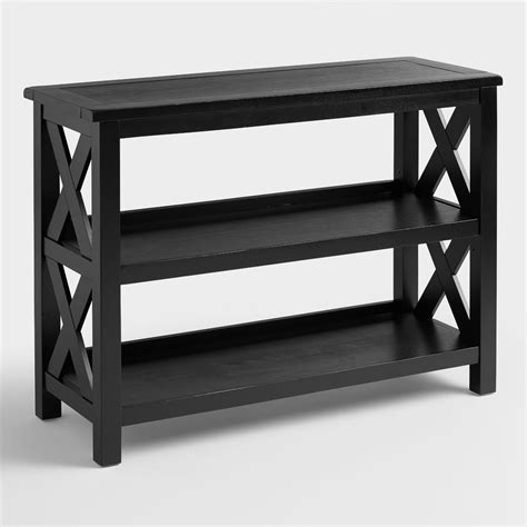 2 shelf bookcase black cost plus world market antique black verona two shelf