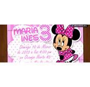 Invitaciones Para Baby Shower De Minnie Mouse  Car