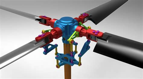 how to draw a boat propeller in solidworks rc helicopter rotor assembly 3d cad model library grabcad
